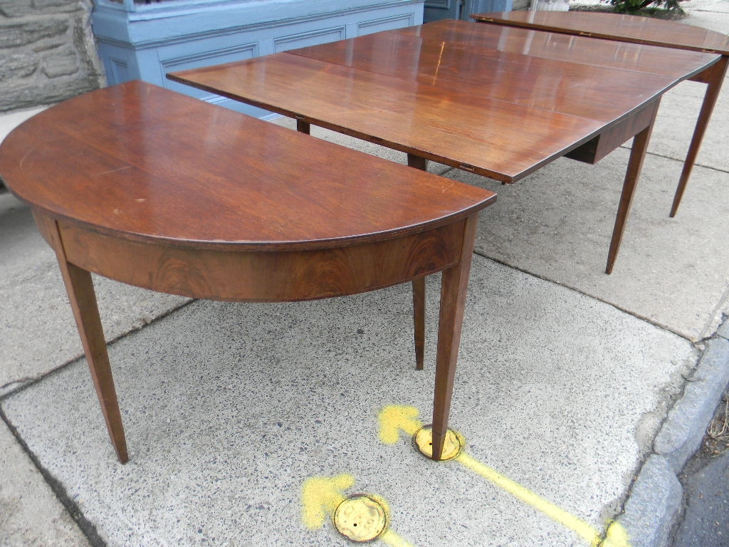 Inlaid Dining Table Mahogany 3 Part Inlaid Dining Table New England Circa 1800