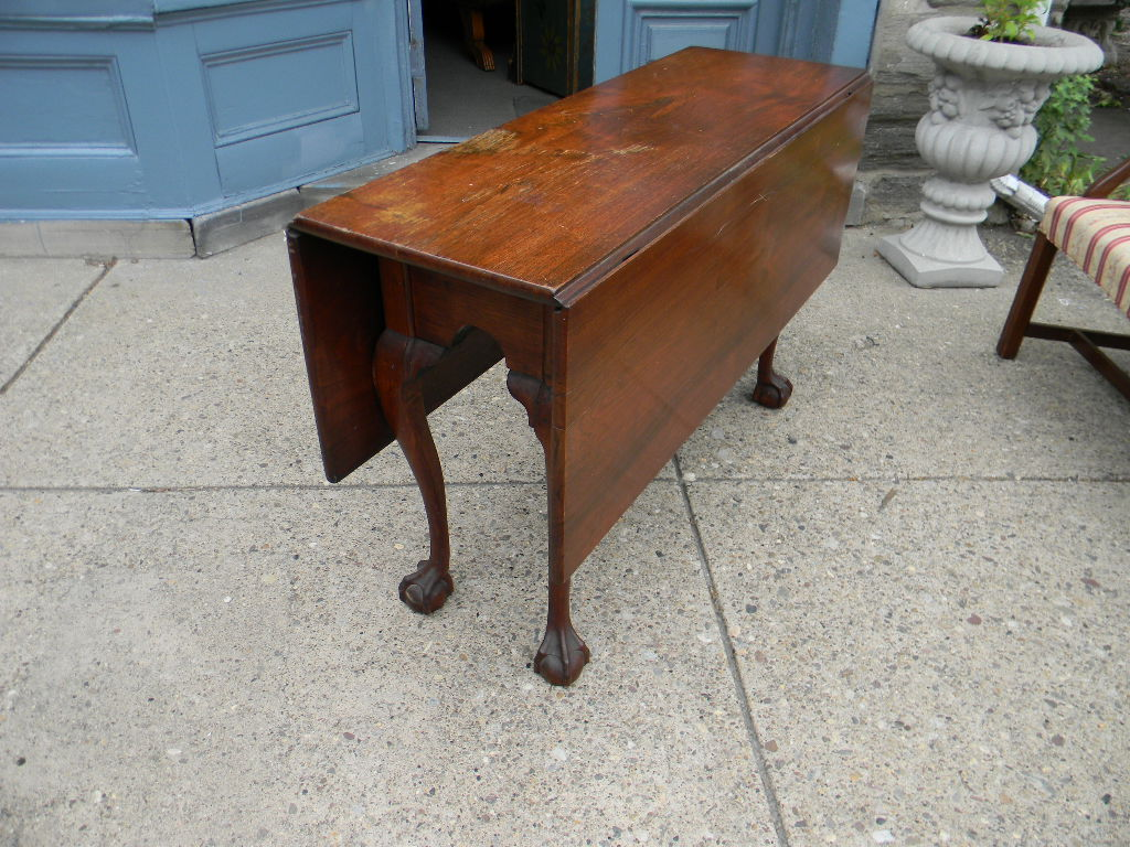 View Larger Image. ; . Chippendale Walnut Drop Leaf Table ...