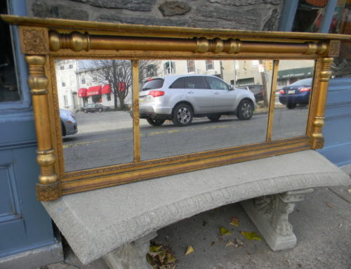 "Gilt Overmantle Mirror, American Circa 1820, 66""-26""t"