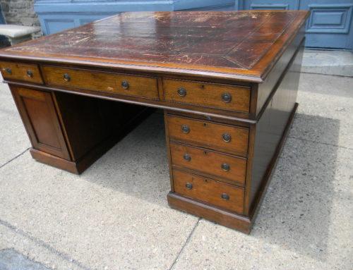 """Partners Desk, England Circa 1820, 63""""w-54""""d."""