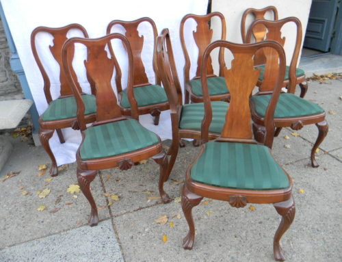 Set of 8 Queen Anne Custom Side Chairs.