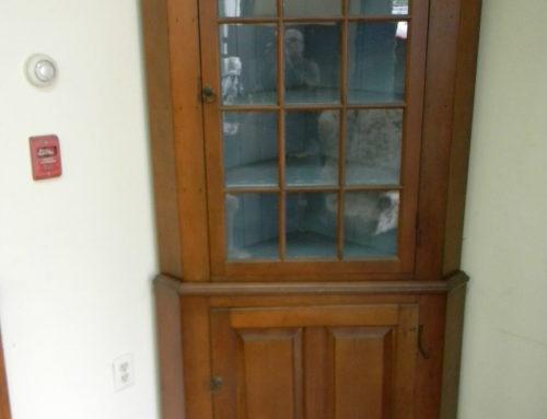 "Cherry Corner Cupboard,2 piece PA.Circa 1780,81""t"