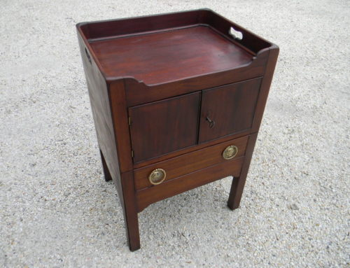 "Mahogany Side Table or Cabinet English 19th century,30""t-20'w,$325"