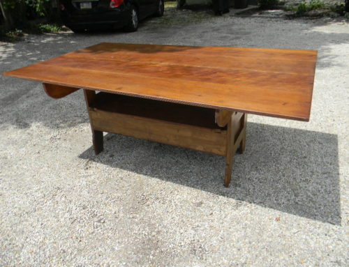 "Bench Table, 19TH century, 75""x 44"""