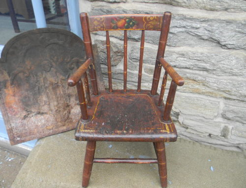 Windsor Childs Chair, Orig. Decoration,