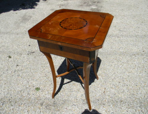 Biedermaier Maple Side Table 19th century