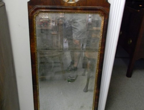 "Queen Anne Walnut Mirror Circa 1730, 46""t"
