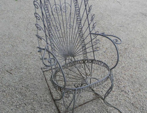 "Victorian Iron Rocking Chair 47""tall"