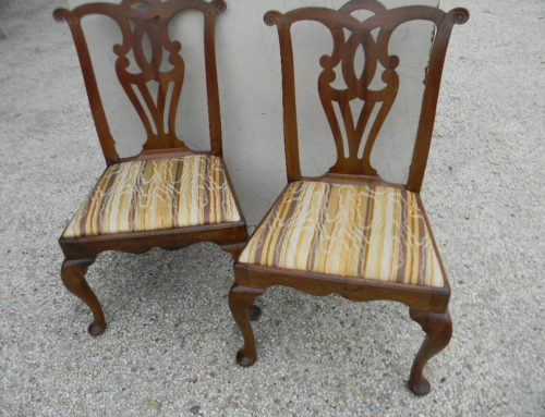 Pair Queen Anne Chairs Circa 1760