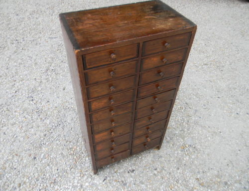 "Pine Apothecary Chest 23""t-12""w"