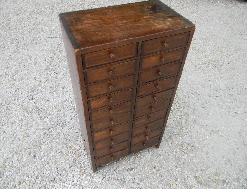 """Pine Apothecary Chest 23""""t-12""""w"""