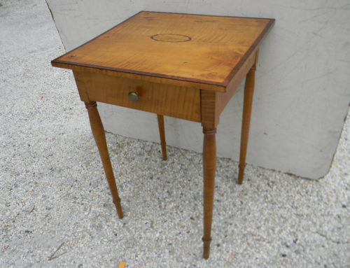 Tiger Maple Table, New England Circa 1810