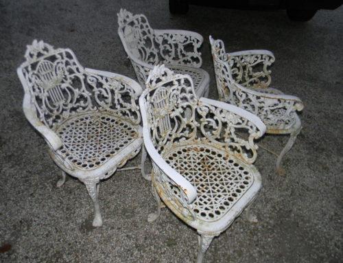 4 Heavy Cast Iron Garden Chairs