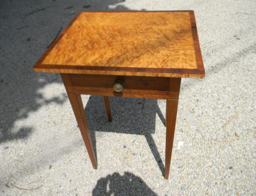 Inlaid Maple& Cherry End Table Circa 1810