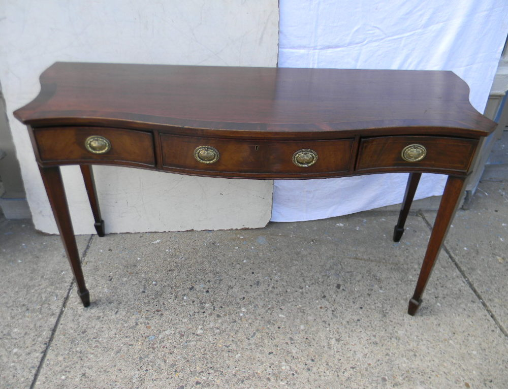 "English Inlaid Server,56""w-24""d-32""t"