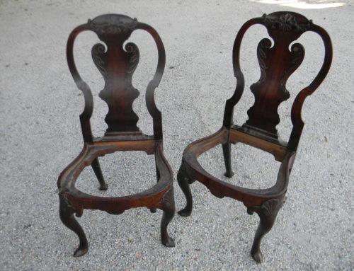 Pair Queen Anne Chairs England Ca.1740