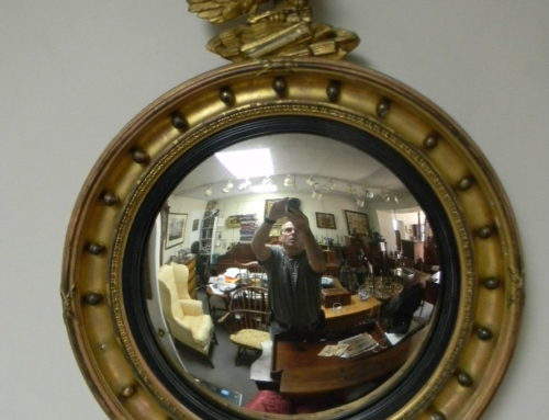 "Gilt Convex Mirror ,late 19th c.32""t"