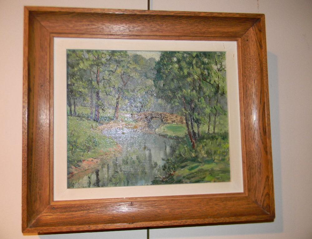 """Landscape by W.E. Baum Sr. 10""""x17"""""""
