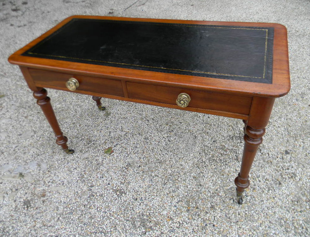 "Mahogany Desk English Circa 182548""w-23""d-29""t"