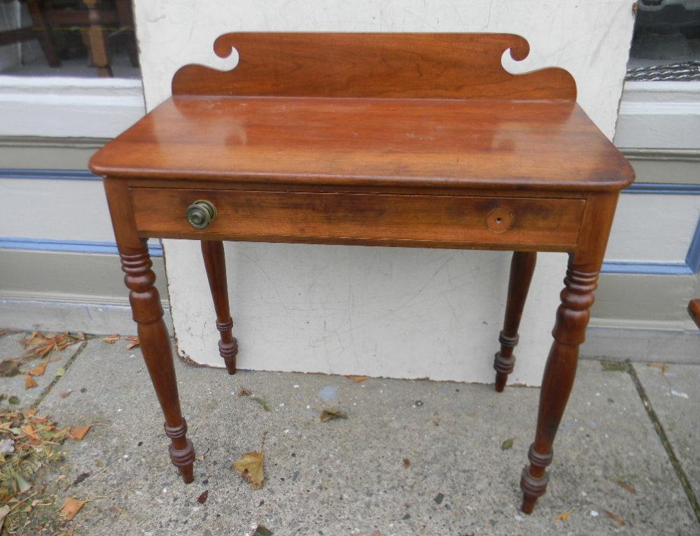 Cherry Console Table New England Circa 1810