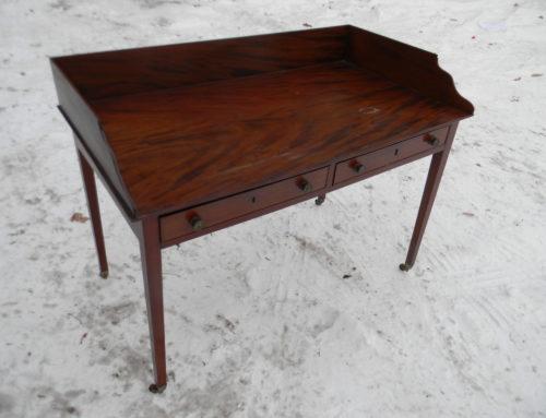 Mahogany Gallery Top Server or Desk,Circa 1800 England