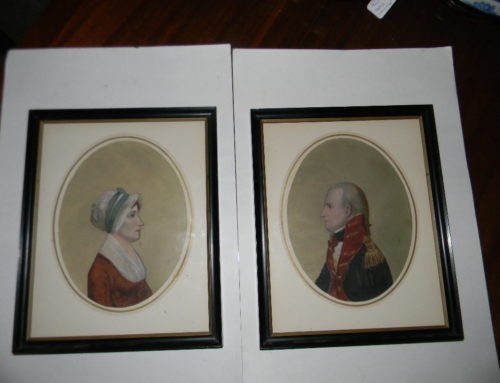 Pair Portraits of 29th Gov.of Delaware Caleb Prew Bennett & wife Catherine
