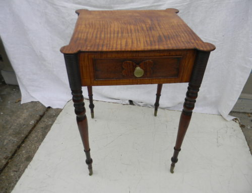 Tiger Maple Side Table,New England Circa 1815