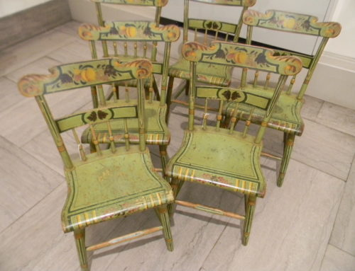 Set of 6 Original Decoration PA. 19th Century