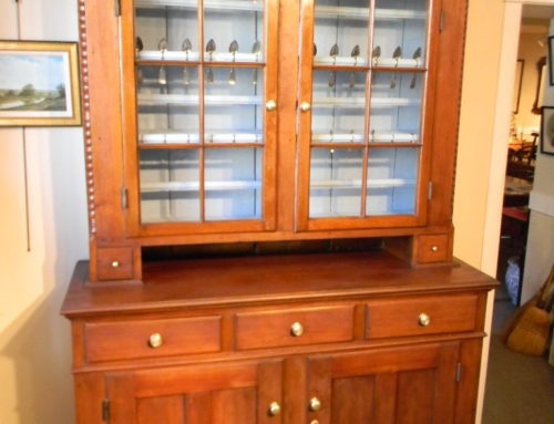 "Walnut 2 Piece Dutch Cupboard PA. Circa 1815,-57""w-86""t"