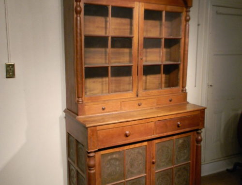 "Cherry 2 Piece Pie Cupboard, Southern Circa 1820,Size 94""t-22""d-51""w."