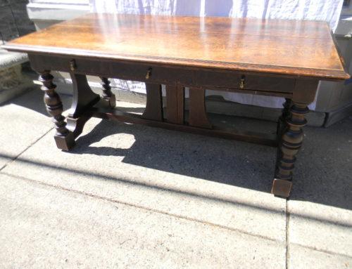 "Oak Library Table,66""x34"""