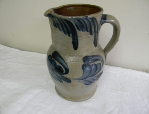 "Phila. Stoneware Pitcher, 11""t"