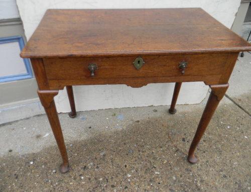 Queen Anne Oak Side Table English Circa 1740
