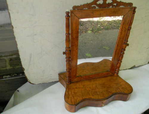 Figured Maple Inlaid Mirror Ca 1820