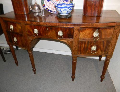 "Regency Inlaid Mahogany Sideboard,66""w-38""t-Circa 1810"