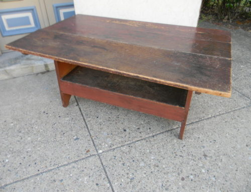 "Bench Table Old Red Surface,55""x36""x25.5""t"