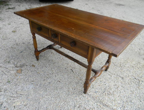 "Poplar 3 Drawer Center Table 58""x31""PA Circa 1780"