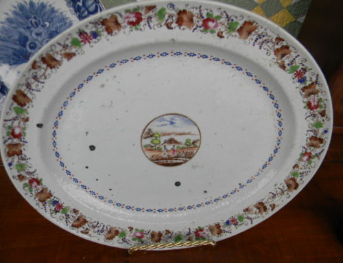 "Chinese Export Platter 16""w"