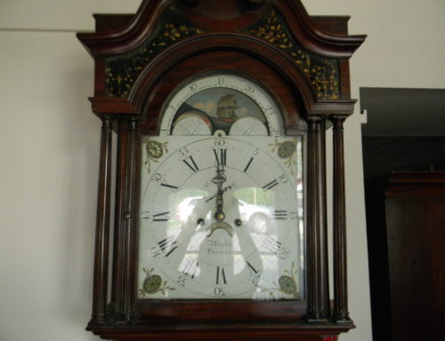 Grandfather Clock Signed Monk–Prescot