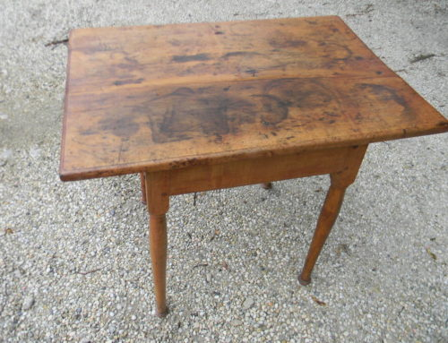 "Maple Tap Table New England 18th Century, 27""x 19"""