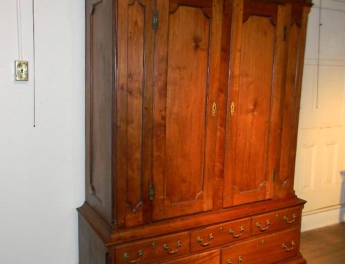 PA. Walnut Schrank Ca. 1775, Panel Doors& Futed Columns