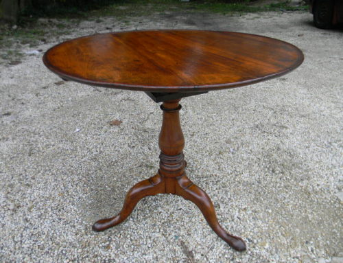 "Walnut Queen Anne Tea Table with birdcage 32""WCa.1760,$950"