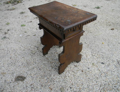 "Italian Walnut Sidetable Circa 1750,25""tall"