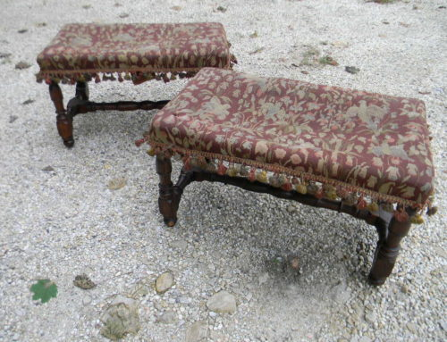 Pair of 17th Century Continental Stools