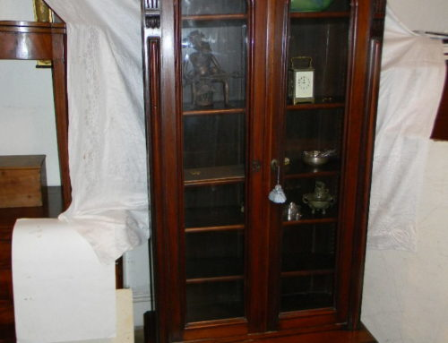 "Victorian Walnut Bookcase 81""t-39""w"