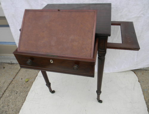American Reeded Leg Work Table, Circa 1810