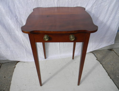 American Cherry Shaped Top Table, Circa 1800