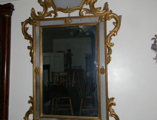 "Gilt Decorated Continental Mirror ,65""tall."