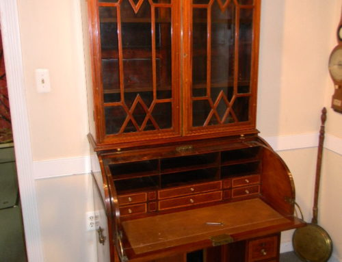 "Inlaid Mahogany Tambour Secretary Desk.English Ca 1820,36""w-79""t"