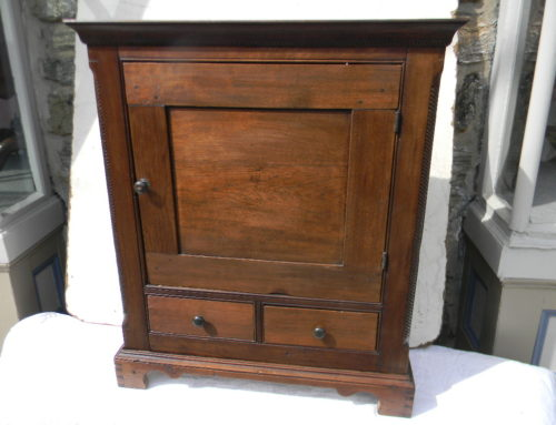 "American Valuables Cabinet,35""t-27""w,Circa 1780"